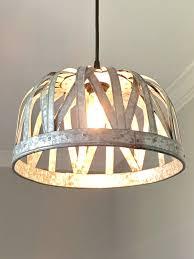 Galvanized Pendant Light Galvanized Basket Pendant Light Out Of The Woodwork Designs