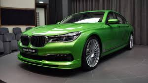 java green bmw alpina b7 in java green is geen subtiele sloper 608 pk