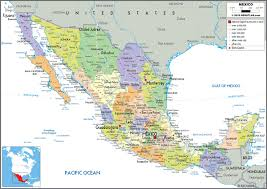 political map of mexico mexico political wall map by graphiogre