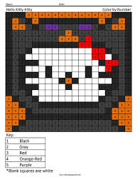 halloween hello kitty coloring page coloring squared pinterest