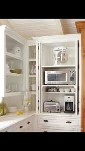 kitchen cabinet appliance garage keep small appliances out of sight drawers counter space and spaces