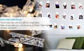string lights with clips amazon com veesee 80 led photo clip string lights picture display