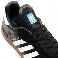 black samba adidas samba adv black white gum forty two skateboard shop