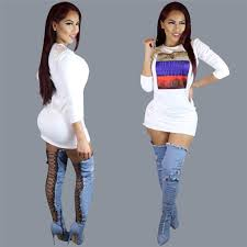 long sleeve white dress bodycon dress for women night