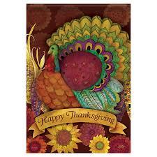 thanksgiving garden flag colorful turkey