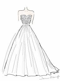 drawn design wedding dress pencil and in color drawn design