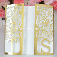 marriage invitation card sle aliexpress buy laser cut happiness tree invitation sleeves