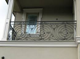 wrought iron balcony railing with ornament home architecture and