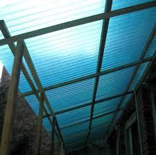 tettoia in plastica policarbonato trasparente per copertura fai da te offgrid