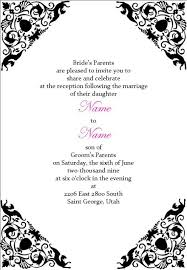 black and white wedding invitation templates u2013 diabetesmang info