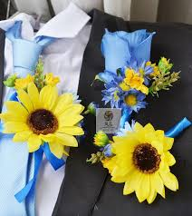 sunflower corsage china blue corsages china blue corsages shopping guide at alibaba
