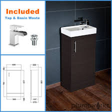compact bathroom vanity unit u0026 basin sink vanity 400mm floor