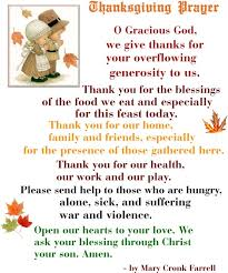 family thanksgiving prayer festival collections