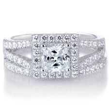 princess cut cubic zirconia wedding sets wedding rings halo engagement rings princess cut wedding band to