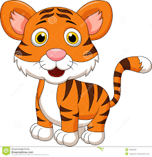 cute baby tiger cartoon royalty free stock images image 30568059