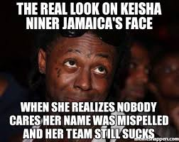 Meme Nobody Cares - the real look on keisha niner jamaica s face when she realizes