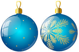 transparent two blue christmas balls ornaments clipart gallery