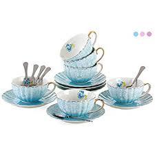 tea cup set jusalpha porcelain tea cup and saucer coffee cup set