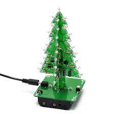 gikfun 3d tree led diy kits 7 color flash circuit