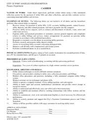 Fast Food Cashier Job Description Resume by Cashier Job Description Fast Food Duties And Responsibilities