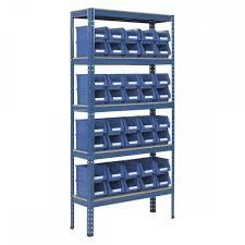 Storage Bin Shelves garage 200kg 160w x 236d parts storage bin shelving racking com