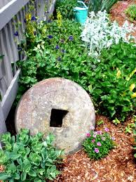 Pinterest Gardening Crafts - 3 old millstone gardening pinterest gardens garden art and