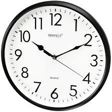 traditional wall clock u2013 perfect u2013 black case ø 32 cm u2013 watchtec