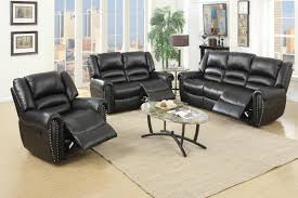 Black Leather Reclining Sofa And Loveseat Malta Black Leather Reclining Sofa A Sofa Furniture Outlet