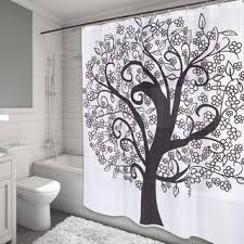 Shower Curtains White Fabric White Fabric Shower Curtains Steel Ring Hooks Square Metal Rod