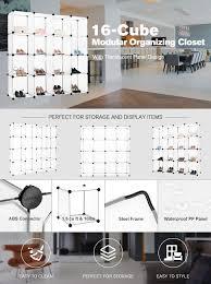 closets without doors amazon com langria cube storage multi use diy 16 cube organizer