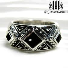black silver rings images 3 kings gothic ring sterling silver wedding band jpg