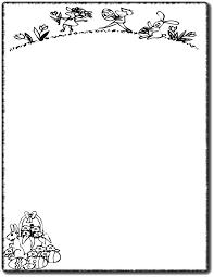 egghunt border coloring page