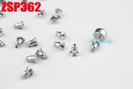 post back earring stainless steel ear post bullet back earring stopper ear stud