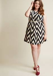 modcloth black friday great wavelengths striped dress in black modcloth