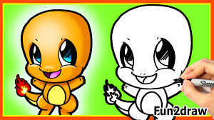 how to draw cute charmander easy step by step pokemon cute