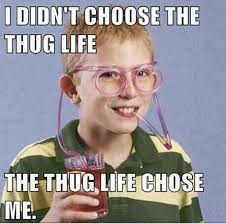 Pussy Destroyer Meme - the thug life i didn t choose the thug life the thug life chose
