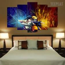 Canvas Home Decor Frame Picture Naruto Shippuden Kyuubi Cartoo Painting Wall Art