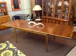 danish modern draw leaf table by dux of sweden measuring 59