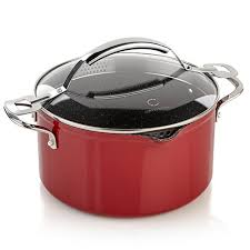 How To Decorate A Pot At Home Curtis Stone Dura Pan Nonstick 6 Qt Straining Stock Pot 8285351