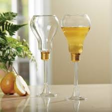 wine glass gift tnt light bulb shaped wine glasses set of two