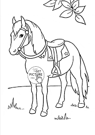 nice horse animal coloring page for kids animal coloring pages