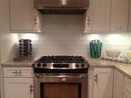 kitchen with subway tile backsplash kitchen subway tiles with mosaic accents backsplash tumbled