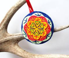 hippie christmas ornament felt christmas ornament christmas