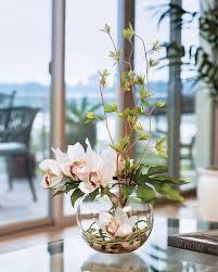 artificial flower arrangements remarkably lifelike cymbidium silk orchid monstera leaf