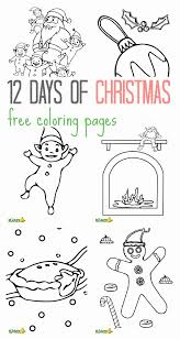 12 days of christmas coloring page free twelve days of christmas coloring pages kids coloring