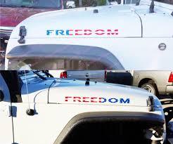 jeep american flag product 2 jeep usa flag freedom hood wrangler yk jk xj left right