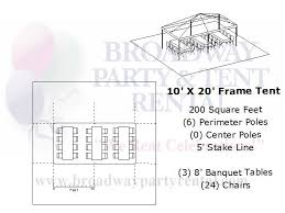 how many tables fit under a 10x20 tent tent seating layouts broadway party tent rental