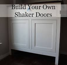 Build Your Own Kitchen Cabinet Doors How To Build Shaker Cabinet Doors With A Router Diy Ideas