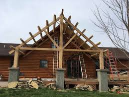 a frame roof need help designing roof over deck in timber framing log construction