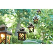 light up your patio or deck with these metal lantern string lights